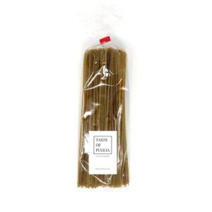 Linguine pasta basilicum en knoflook