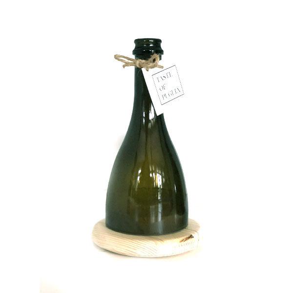Italiaanse glazen waxinelichthouder, handgemaakt