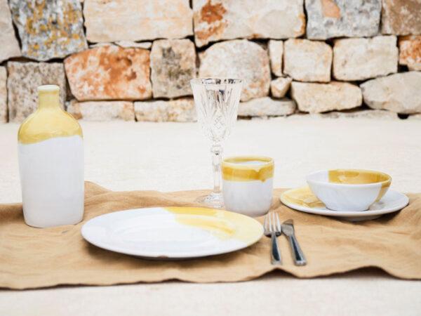 geel servies Puglia
