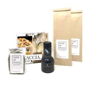 Pakket met alle ingrediënten om focaccia te maken