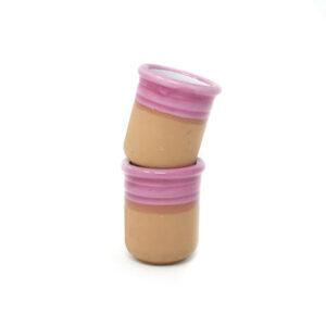 Set van 2 roze Italiaanse espresso kopjes